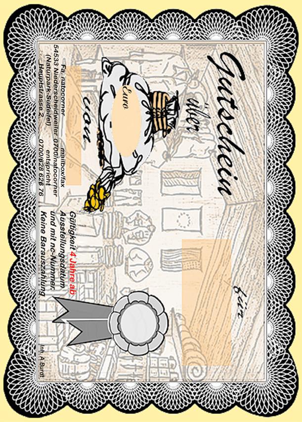 der gutschein zum ausdrucken presented by. Black Bedroom Furniture Sets. Home Design Ideas